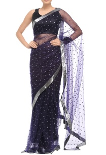 black-sari-with-floral-sequin-embellishments