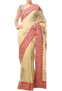 golden-beige-embellished-sari-with-wide-border