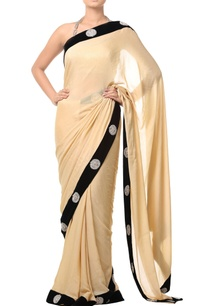 golden-beige-embellished-sari-with-black-border