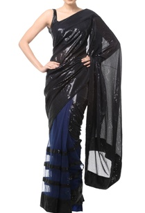 black-blue-sequin-embellished-sari