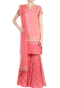 rose-pink-gota-embroidered-kurta-sharara-set