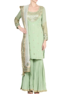 pista-green-embroidered-kurta-sharara-set