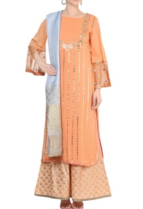 peach-ash-blue-embellished-kurta-set