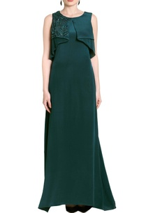 teal-green-flap-embellished-gown