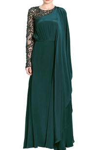 teal-green-embellished-drape-gown