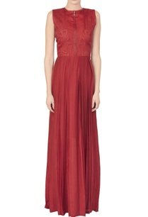 red-silk-mul-maxi-with-a-cut-work-embroidered-bodice