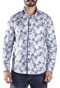 white-blue-paisley-printed-shirt