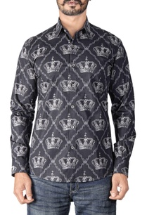 black-crown-printed-shirt