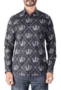 black-crown-printed-shirt