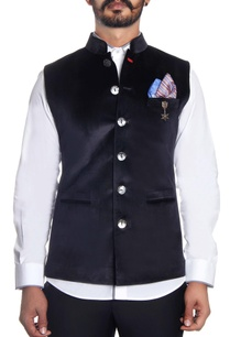 black-velvet-embossed-nehru-jacket