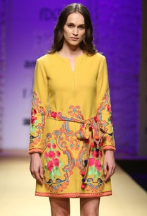 mustard-yellow-embroidered-dress