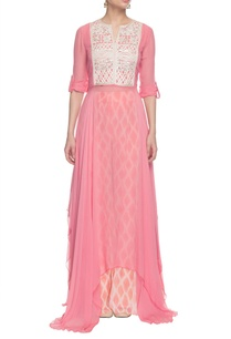 light-pink-embroidered-uneven-hem-kurta-set