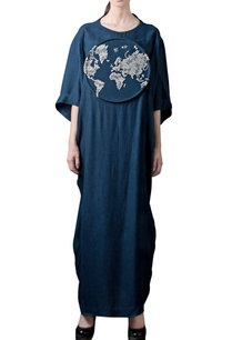 navy-blue-3d-embroidered-dress