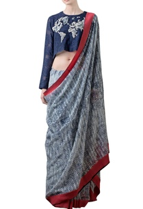 light-grey-printed-sari