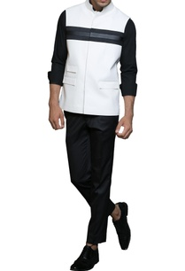 black-white-paneled-nehru-jacket