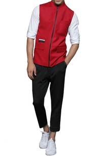 red-zipper-nehru-jacket