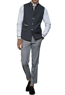 black-white-safari-nehru-jacket
