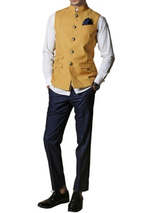 mustard-yellow-safari-nehru-jacket