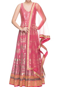 pink-embroidered-anarkali-dupatta
