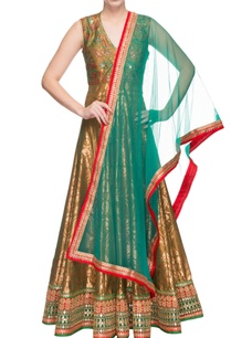 olive-green-embroidered-anarkali-dupatta
