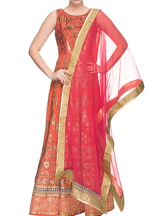 orange-red-shaded-embroidered-anarkali-dupatta