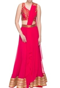 scarlet-red-embroidered-lehenga-set