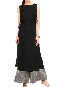 black-shimmer-enhanced-kurta-with-palazzos