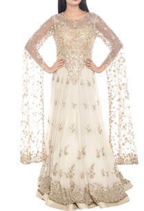 ivory-gold-silver-floral-embellished-gown