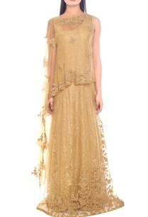 gold-sequin-embellished-gown-with-cape