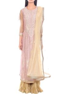 pink-cream-zari-embroidered-kurta-set