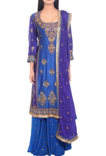 blue-purple-embroidered-kurta-set