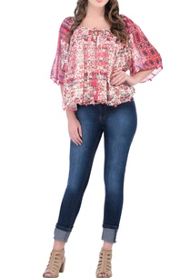 pink-printed-pleated-top-with-tassels