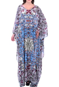 grey-printed-kaftan-dress-with-embroidery