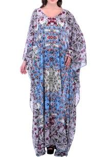 grey-printed-kaftan-dress-with-embroidery