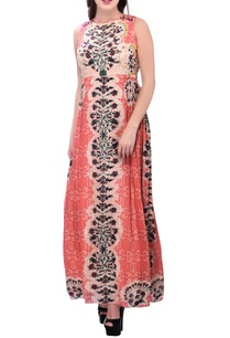 pink-printed-maxi-dress-with-bead-embellishents