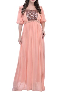 peach-thread-embroidered-maxi-dress