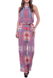 coral-blue-geometric-printed-jumpsuit