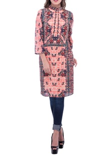 coral-and-red-floral-printed-tunic