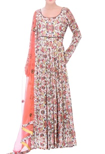 white-anarkali-with-multi-colored-floral-print