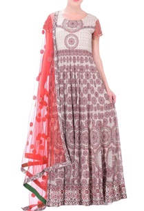 ivory-anarkali-with-red-grey-tile-print
