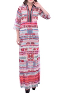 white-a-line-maxi-dress-with-geometric-prints