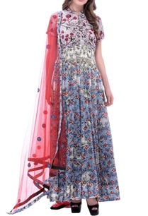 white-anarkali-with-multi-colored-blossom-print-embroidery