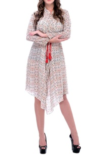 white-asymmetrical-printed-dress-with-a-rope-belt