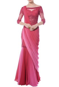 pink-red-georgette-embroidered-sari-gown