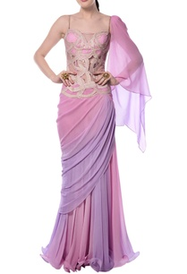 light-pink-purple-embroidered-draped-gown