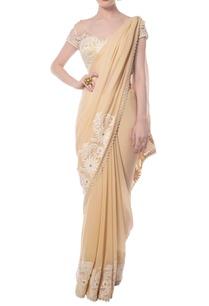 light-yellow-embroidered-sari