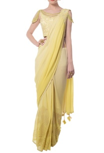 canary-yellow-floral-embroidered-sari