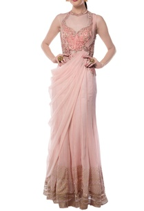 light-pink-embroidered-printed-sari-gown