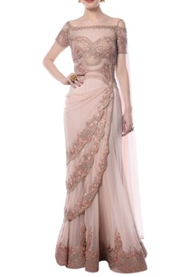 blush-pink-embroidered-sari-gown