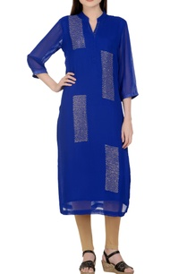 blue-sequin-kurta-set